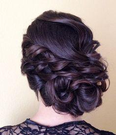 Featured Hairstyle: Heidi Marie (Garrett); hairandmakeupgirl.com; Wedding hairstyle idea.