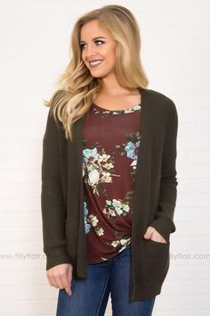 2d15963d4502e Olive Branch Pocket Cardigan Filly Flair, Cute Cardigans, New Wardrobe,  Shop Now,