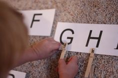Letter recognition and matching lower case letters to their upper case letters.