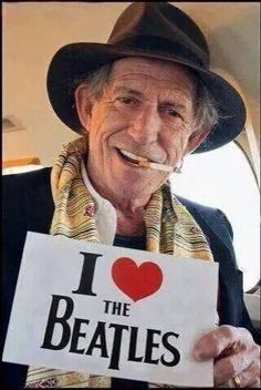 Keith Richards loves the beatles