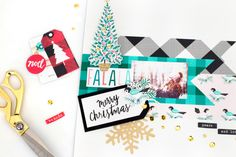 The newest collection by Crate Paper, FaLaLa! Crate Crafts, Layout Inspiration, Life Inspiration, Crate Paper, December Daily, Christmas Holidays, Christmas Layout, Blogger Themes, Wedding Designs