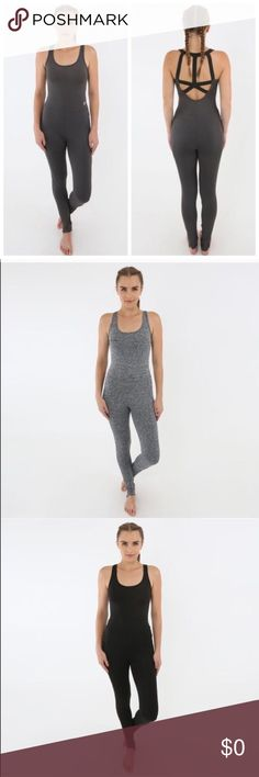 One-piece bodysuit workout tank Like this for a notification of when these become available ! Don't hesitate ! They sell out fast and make a great holiday gift for yourself or for someone else. Adorable onesie, perfect for your workout style! MSRP: $139.00, Material: 87% Polyester, 13% Elastane. Available: 1 Small in charcoal. 2 Small in black. 1 Medium in heather grey. 1 Medium in black. $100 each. Electric Yoga Tops Tank Tops