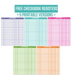 bank register printable
