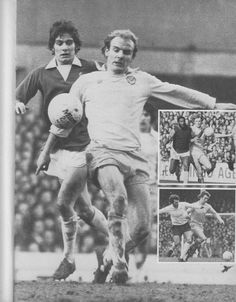 January Terry Yorath shadowed by Everton's Mick Buckley during a drab goalless draw, at Goodison Park. Terry Yorath, Goodison Park, Leeds United, Everton, January, Soccer, Football, Draw, Club