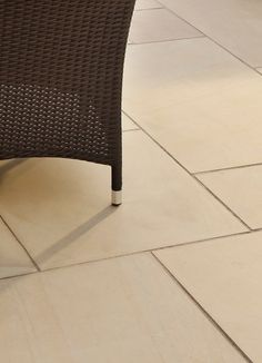 Smooth Natural Sandstone Paving Slabs | Bradstone - this is a smoother look - need to find out how to keep it non-slip.. would go with your indoor tiles though.