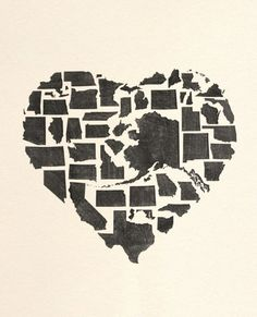 STATES UNITED.-- Don't know if I would hang this in my house, but it's a great concept.