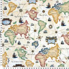 World map fabric by the yard map fabric yards and fabrics world map fabric home decor fabric americaasiaafricaeurope yellowredblue draperyupholstery length gumiabroncs Gallery