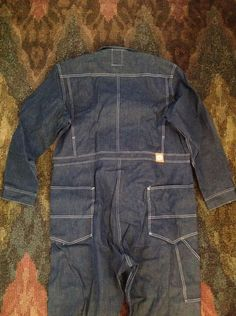 Vintage Lee Can't Bust 'Em Coveralls Denim Jean Workwear Sanforized Jumperalls | eBay