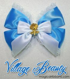 Village Beauty Bow $10.00 – $12.00 White Ribbon, Mouse Ears, Pearl White, Bows, Ribbons, Lace, Handmade, Beauty, Characters