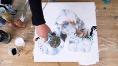 Acrylic pour painting with NEW WHITE - Delicate Fluid Dutch Pour Technique abstractas videos acrilico painting Acrylic pour painting with NEW WHITE - Delicate Fluid Dutch Pour Technique Acrylic Pouring Techniques, Acrylic Pouring Art, Acrylic Art, Pour Painting Techniques, Art Sur Toile, Resin Art, Abstract Art, Abstract Paintings, Acrylic Abstract Painting Techniques