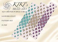 Bead Crochet Patterns, Beading Patterns Free, Beaded Jewelry Patterns, Weaving Patterns, Loom Bracelet Patterns, Bead Loom Bracelets, Bracelet Crafts, Tear, Loom Beading