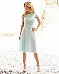 JOANNA HOPE Lace Bodice Dress