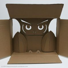Day 120: Shipping Box Owl - Created by Tanya Green