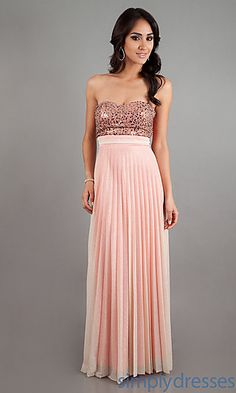Long Strapless Prom Dress at SimplyDresses.com About 12 mediums left
