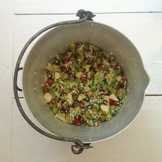 More elderflower, pear and rhubarb compote in the making - I use raw cane sugar and vanilla too