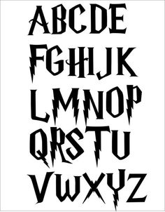 Harry potter alphabet cross stitch pattern pdf only Harry Potter Alphabet, Harry Potter Stencils, Harry Potter Drawings, Harry Potter World, Harry Potter Font Free, Hand Lettering Alphabet, Alphabet Stencils, Stencil Patterns Letters, Stencil Lettering