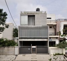 Completed in 2014 in Indore, India. Images by  Aman Sonel. The house was conceptualized around keeping the family interactive all round the day. The footprint of the residence was confined to only half of the...