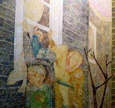 Original Interiors Painting by Szabina Gore Original Art, Original Paintings, Abstract Expressionism Art, Interior Paint, Surrealism, Buy Art, Saatchi Art, Canvas Art, Windows