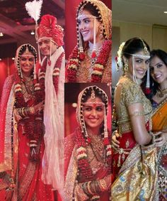 Top 10 Wedding Lehengas of Bollywood Celebrities Marathi Bride, Marathi Wedding, Bollywood Wedding, Desi Wedding, Saree Wedding, Beautiful Indian Brides, Wedding Saree Collection, Traditional Indian Wedding, Weeding Dress