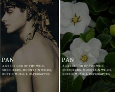 pan (Πάν) - greek god of the wild, shepherds, mountain wilds, rustic music & . - New Ideas Greek Mythology Gods, Greek Mythology Tattoos, Greek Gods And Goddesses, Roman Mythology, Goddess Names, Fantasy Names, Greek Names, Pretty Names, Religion