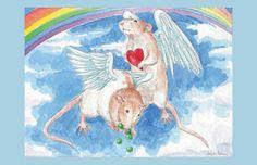 Peas & Hearts Angel Rats
