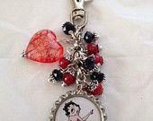 Betty Boop Bottle Cap keychain. $8.00, via Etsy.