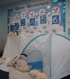 A super Winter Wonderland classroom display photo contribution. Great ideas for your classroom! Winter Kids, Winter Christmas, Classroom Displays, Classroom Decor, Winter Thema, Artic Animals, Polo Norte, Winter Wonderland Theme, Role Play Areas
