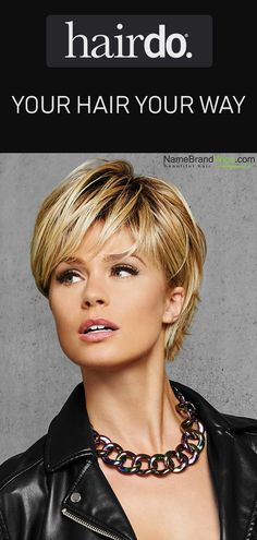 The Textured Fringe Bob from HairDo is one of the hottest styles of the year. Available in 9 gorgeous colors, including the popular Rooted Golden Wh. Choppy Bob Hairstyles, Short Layered Hairstyles, Short Choppy Bobs, Short Shaggy Bob, Short Textured Bob, Very Short Bob, Layered Bob Short, Easy Hairstyles, Trending Hairstyles