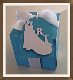 Tiffany inspired engagement explosion box by Vandiescreations