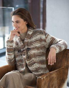 Book Woman Urban 91 Autumn / Winter | 9: Woman Jacket | Brown-Beige / Light grey