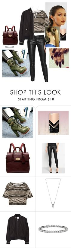 """""""Untitled #125"""" by fatyhnrqz94 ❤ liked on Polyvore featuring Forkix Boots, Mulberry, Paige Denim, Temperley London, MANGO and Blue Nile"""