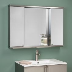 Metropolitan Dual Stainless Steel Medicine Cabinets with Mirror