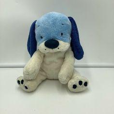 Target Puppy Dog Plush Stuffed Animal Blue Ivory Off White Floppy Stuffed Animal #Target