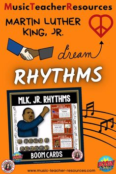 From Music Teacher Resources, these 20 digital task cards on the BOOM Learning™ website are fun, educational and engaging activities to reinforce the concept of rhythm! Students are to match the given word/s to the most correct rhythm. ♫ ♫ #musiceducation #mtr #boomcardsformusic #boomcards