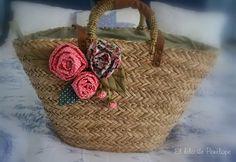 El hilo de penélope Hessian Bags, Jute Bags, Diy Sac, Wicker Purse, Embroidery Bags, Flower Bag, Straw Tote, Basket Bag, Summer Bags