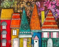 """mixed media houses and girls 