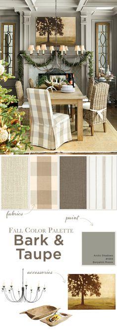 Winter Color Palette Bark Taupe Home Decor