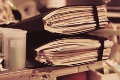 Now here's some well used journals...wouldn't you love to dip into them?