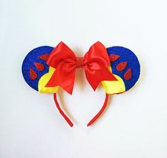 Snow White Disney Ears Snow White Mickey Ears by ToNeverNeverland