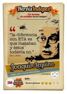 """#HeroisIndepes 266. Joaquín Leguina: """"la diferencia con ETA es que mataban y éstos todavía no."""""""