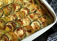 Flødebagte kartofler med squash…