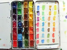 I need to have a key for my tray watercolors. #watercolors