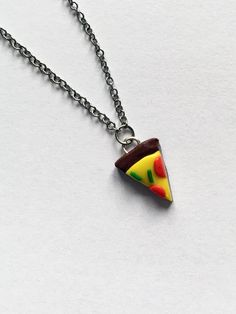 Pizza pendant - different unique design - jewelry - pizza necklace or bracelet - gift for her - handmade