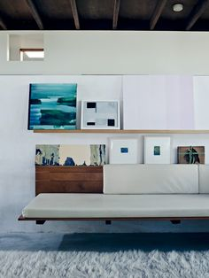 rich greens and blues in a clean white space