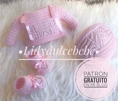 Crochet Baby, Knit Crochet, Baby Cardigan, Baby Knitting Patterns, Free Pattern, Ideas, Beret, Crochet Dresses, Knitting And Crocheting