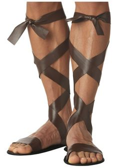 Give your Roman Costume or Greek costume an imperial look by adding these brown Roman Sandals. Nativity Costumes, Halloween Costumes, Adult Halloween, Halloween College, Group Halloween, Halloween Party, Roman Sandals, Gladiator Sandals, Boho Sandals