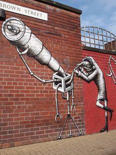 Street art from around the world Street Art Utopia, Street Art Graffiti, Sheffield Art, Comic Frame, Street Art Photography, Amazing Street Art, Sidewalk Chalk, Street Artists, Urban Art