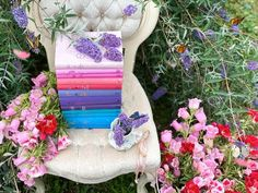 Canterbury classics word cloud pastel books in a butterfly bish with godetia and campanula   Tea Party Butterfly Party, Monarch Butterfly, Canterbury Classics, Book Nerd Problems, Beautiful Gif, Stack Of Books, Blue Books, Book Lovers, Pink Purple