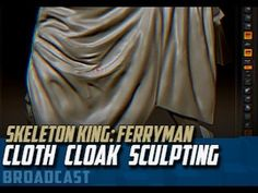 """Dota 2 Set: """"Ferryman"""" for Skeleton King. Broadcast Covers zBrush sculpting: -Cloak Cloth Softimage: -UV touch-ups and mesh polish http://www.liveworkshop.co..."""