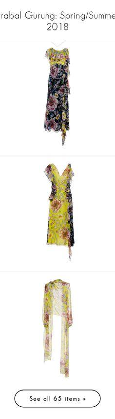"""Prabal Gurung: Spring/Summer 2018"" by livnd ❤ liked on Polyvore featuring PrabalGurung, livndfashion, livndprabalgurung, springsummer2018, dresses, floral, prabal gurung dress, midi dress, prabal gurung and flutter-sleeve dress"
